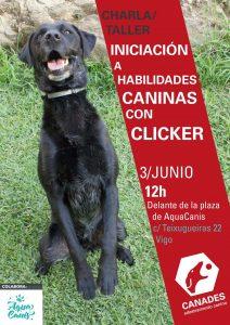 Charla/taller de iniciación en habilidades caninas con clicker